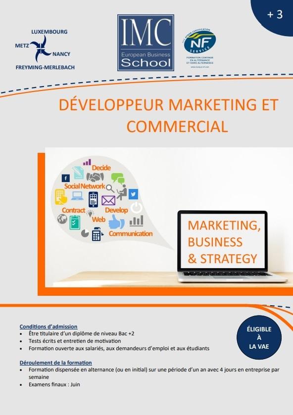 Developpeur marketing et commercial
