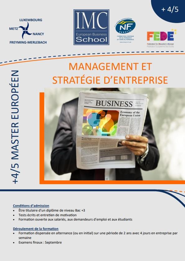master management et strategie d entreprise