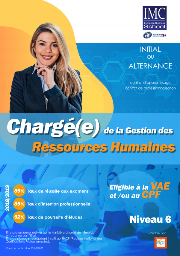 bac+3 ressources humaines