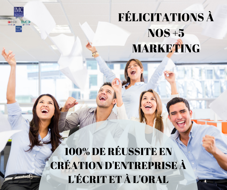réussite +5 marketing école IMC