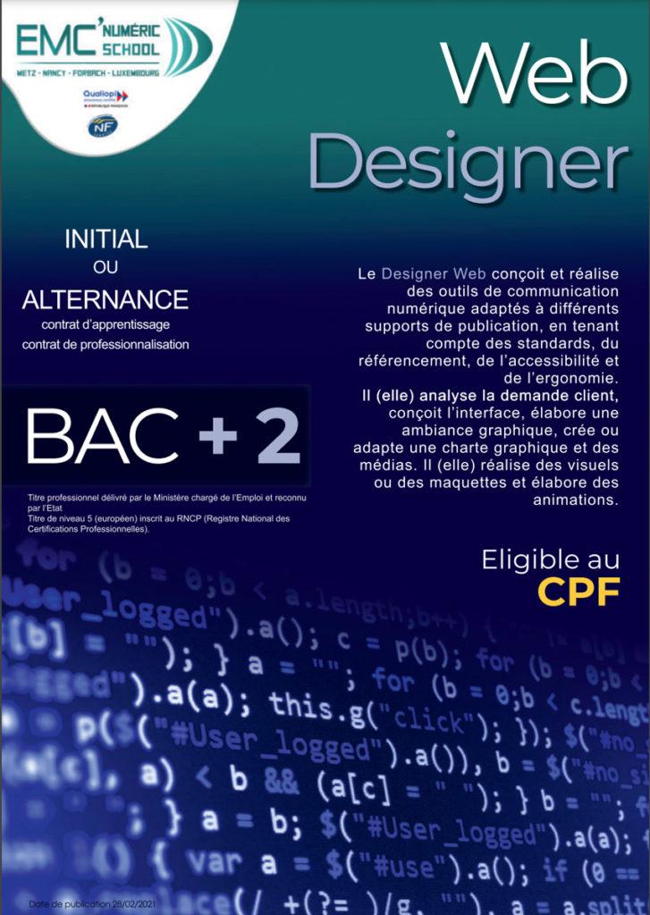 web designer imc emc numéric school
